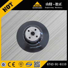 Komatsu pulley 6743-91-6110 for PC300-7