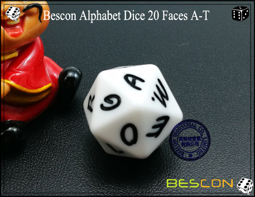 Bescon Alphabet Dice 20 Faces A-T-3