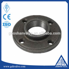 "1/2"" black cast iron pipe fitting floor flanges"
