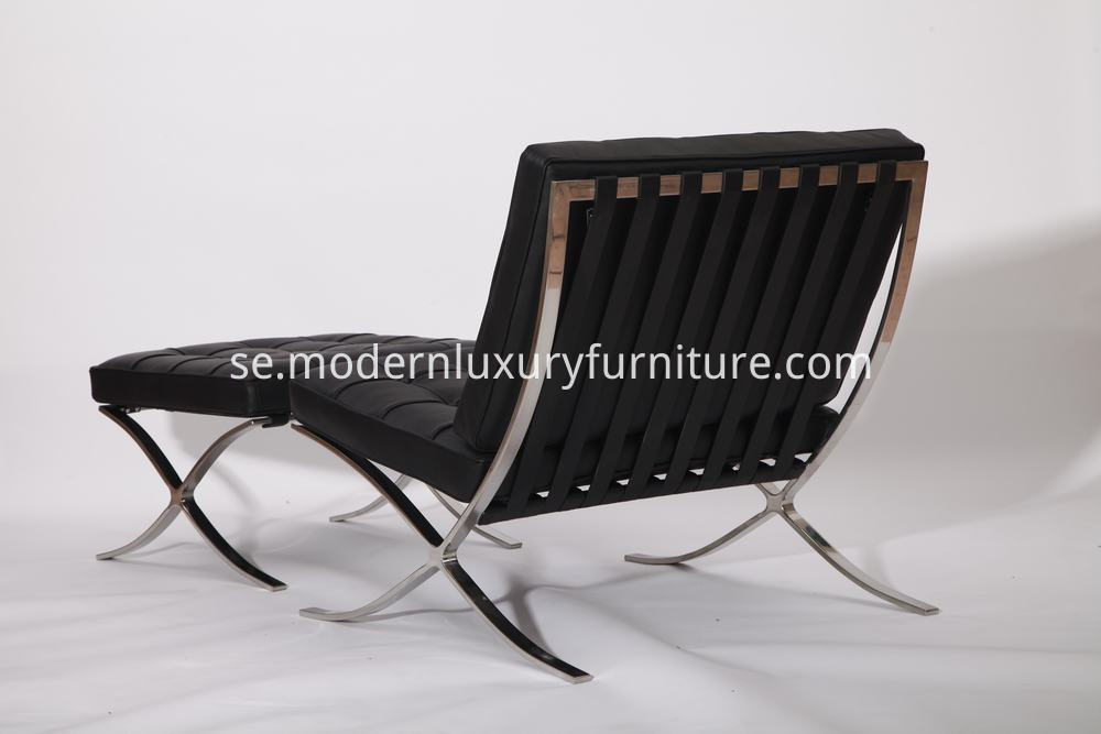 modern barcelona chair in black