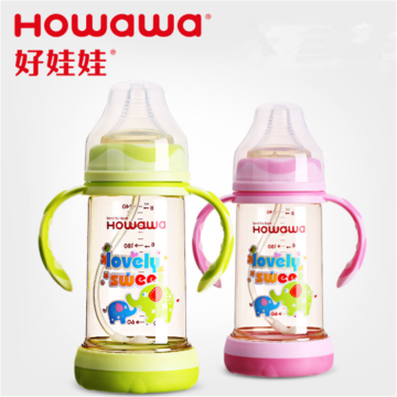 Anti-kutikula PPSU Baby Feeding Bottle Lebar Leher