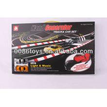 Juego de carreras de coches Manivela Generador Mano Dynamo