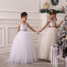 2016 nuevos niños deisgn florista vestido de boda de alibaba vestido para niña con encaje