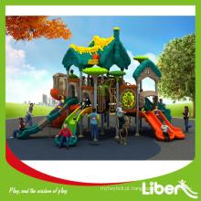 Crianças Outdoor Plástico Playground Equipamentos com espiral Slides, Plastic Slides Tipo Outdoor Playground Equipamento