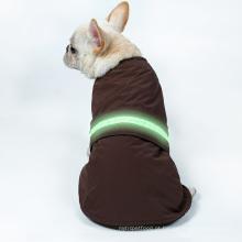 Cão morno feito sob encomenda da roupa do inverno impermeável do revestimento da veste do animal de estimação do lED