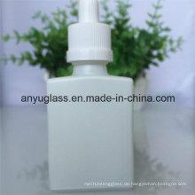 Milch weiß ätherisches Öl Glas Flasche mit Kunststoff Aluminium Cap