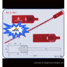 Vedação plasti ajustável BG-S-007 vedação plástica para uso ajustável, tira de vedação do recipiente, fechadura de contêiner