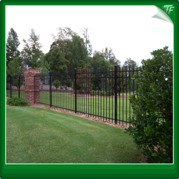 Crimped spear tubular garrison fencing