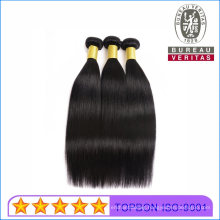 Human Hair Wefts 100% Real Human Hair Bundle Black Straight 10A Remy Hair