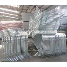 Barricada de aço galvanizado 1100 x 2200 mm para controle de multidões