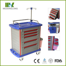 FDA CE Zertifikat MT01A Krankenhaus Medical Crash Trolley / Cart