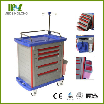 FDA CE Certificate MT01A Hospital Medical Crash Trolley / Cart
