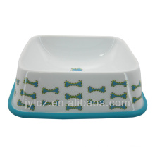 ceramic pet bowl with silicone base