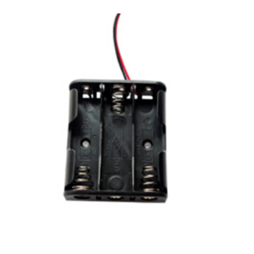 Cables de alambre 3 AA Battery Case Holder