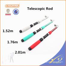 TSR067 pas cher fibre de verre enfants canne à pêche télescopique pôle