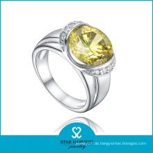 Echte Silber Einfache Design Gravur Silber Opal Ring (R-0569)