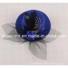 Black Plume Pet Hat Chapeau de réticulation pour animaux de compagnie, produit pour animaux de compagnie