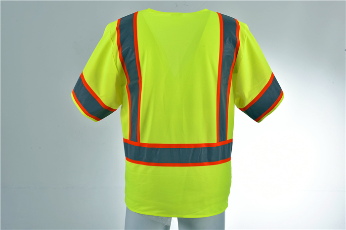 Hi Vis Reflective Vest Safety Security Strips Running Vest
