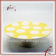 Diseño simple Venta al por mayor de porcelana Vajilla de cerámica Vajilla Cake Plate