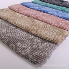 Venta al por mayor Dubai musulmán hiyab bufanda de algodón gasa tela bufanda impresión digital bufanda mujeres hijab
