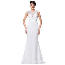 Kate Kasin Floor-Length Sleeveless Spandex Long White Prom Dress Party Dress Evening Dress 8 Size US 2~16 KK000146-1