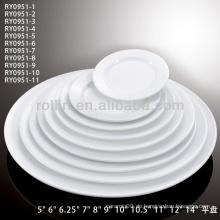Billige weiße Teller für Restaurant