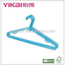 PS plastic hanger with racks for tie and nothes for strap