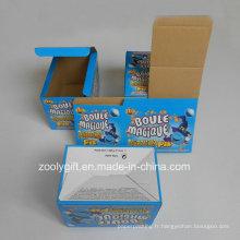 Impression personnalisée Papier ondulé Boîte d'emballage pliable E-Flute Carton ondulé