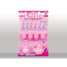 Juego de té plástico encantador preferido de la muchacha para los niños (10214270)