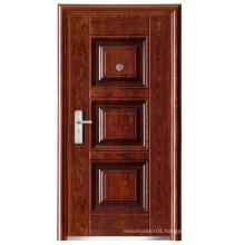 New Panel Design Walnut Colour Steel Security Door