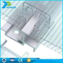 China Lieferant Gewächshaus Glas Markisen Platten Polycarbonat Verriegelung Blatt