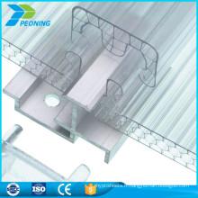 Chine fournisseur panneaux de verrier à effet de serre en polycarbonate Feuille de verrouillage