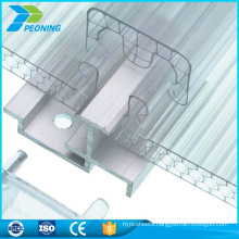 China supplier greenhouse glass awning panels polycarbonate Locking sheet