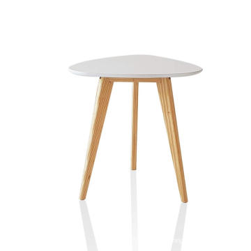 Wood Tripod End Table Wood Tripod End Table Stool Side Table Corner Table Sofa Side Table (White)