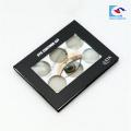 caja de empaquetado de paleta de sombra de ojos cosmética personalizada con ventana