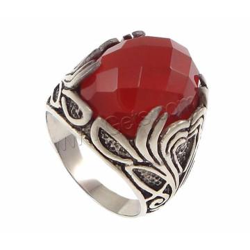 Venta directa de fábrica de ágata anillo 925 joyas de plata esterlina