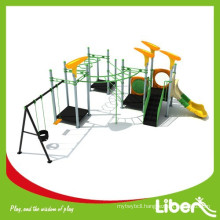 2015 Amusement Playground Outdoor Plastic Playset comply to GS certificate European Standard