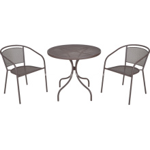 Outdoor furniture 3pc iron netting dining set