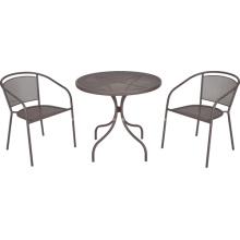 Malhas de ferro 3pc mobília ao ar livre de jantar conjunto