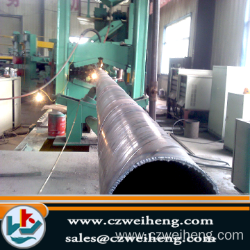 Big zize Q345B helical pipe