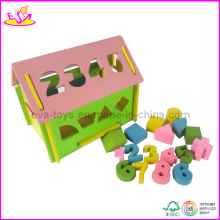 Wooden Number Blocks Mini House (W11H007)
