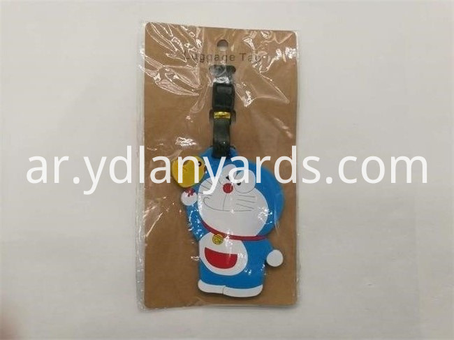 Cute Doraemon PVC Luggage tag