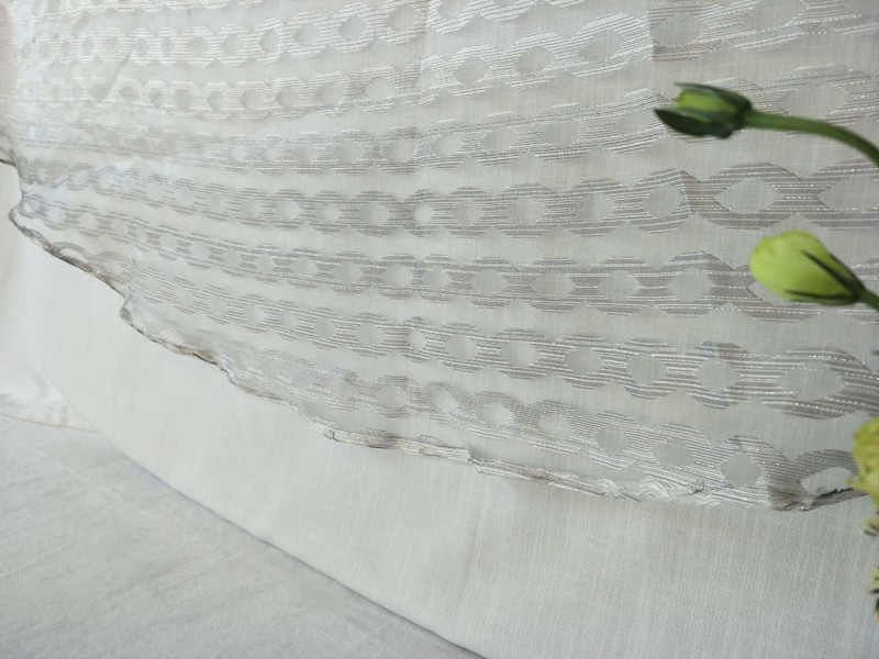 2018 100% Polyester Nouveau Design Coupe Sheer Table Cloth