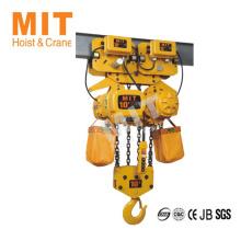 Conception spéciale pour l'espace limite 10t palier à chaîne électrique à faible hauteur