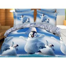 King Size 100% Cotton Bed Sheet Comforter Set 3D Reactive Printed Bed Room Set