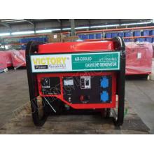 Generador de gasolina de doble cilindro de 10kVA con alto rendimiento