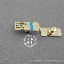 Insigne plaqué argent en alliage de zinc, épinglette de nom (GZHY-LP-024)