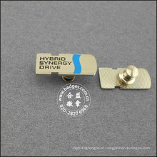 Liga de zinco de prata banhado emblema, nome lapela pin (gzhy-lp-024)