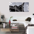 Torre Eiffel Imagem Imprimir Artwork / Preto e Branco Paris Landmark Canvas Wall Art / Cityscape Canvas Painting Atacado
