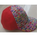 New 2014 spring Fashion Hip-hop Punk Snapback cap colorful diamond Men Women's Velcro Closure Baseball cap